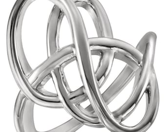 925 Sterling Silver Freeform Ring Size 7