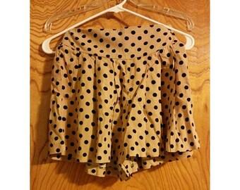 SALE Tan Polka-Dot Shorts - Size Small (2 for 15 dollars deal)