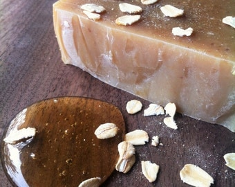Oatmeal and Honey, Hand Crafted, Unscented, Palm oil free, On a Branch Soaps, Local Ontario honey