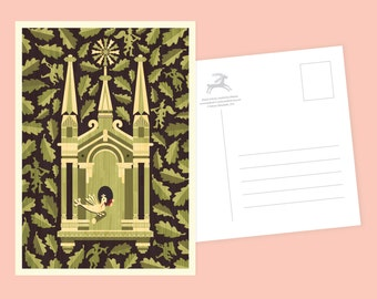 Crafty Wooden Church Postcard or Postcard Set - Inspired by Lithuania Series