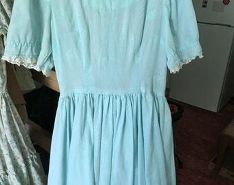Vintage Alice In Wonderland Style Dress
