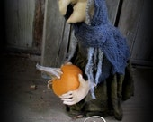Primitive Halloween Witch Doll > Folk Art Witch Prop