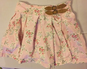 Gorgeous Nineties Floral elastic Waisted Skirt 6x