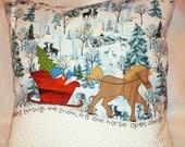 Dashing Through the Snow Pillow