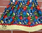 Girls Batman Skirt, Batman, Joker, Girls Skirt, Made to order 12 month, 18 month, 2t, 3t, 4t, 5t, 6, 8