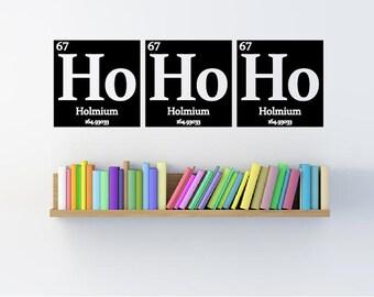 HoHoHo- Elements periodic table wall decal- Christmas decor