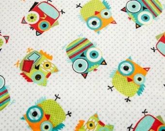 BTHY Hooty Cuddle in Snow Minky Owl Fabric Yardage by Shannon Cuddle Fabric