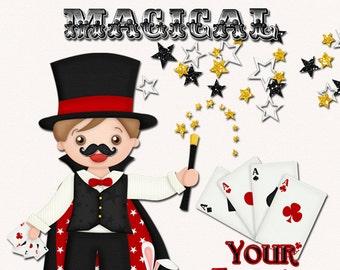 Magic Show Valentine Cards