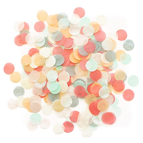 tissue paper confetti Jumbo tissue paper party confetti - spring mix these little packages of jumbo confetti pack a lot of fun a sweet spring time mix of pinks, blushes and gold, our tissue paper confetti is ideal to scatter on wedding tables, toss in the air, stuff in an envelope for a happy surprise, or to place inside a balloon perfect for birthdays, graduations.