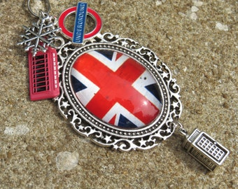 LONDON CALLING British Tree Jewelry Christmas Ornament Cross Lamp Jewelry
