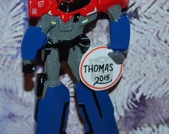 Transformers Optimus Prime Personalized Christmas Ornament