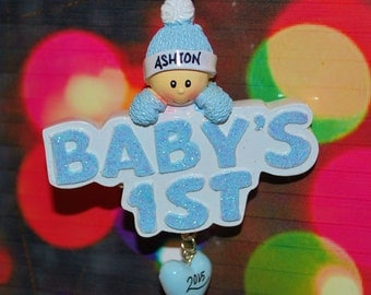 Personalized Baby's 1st Christmas Ornament (Boy)