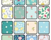 32 Sheets Retro Floral Origami Square Paper Pack for Origami Paper Project - 15cm x 15cm