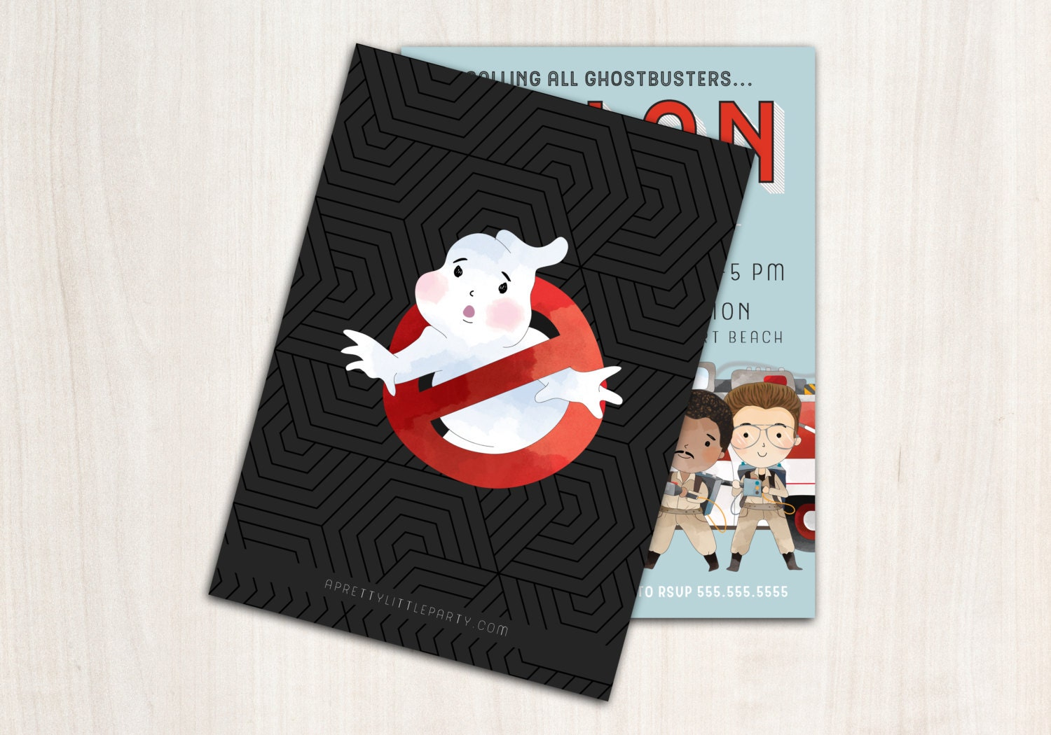 Ghost buster Invitation - Ghost party invite - ghost birthday party