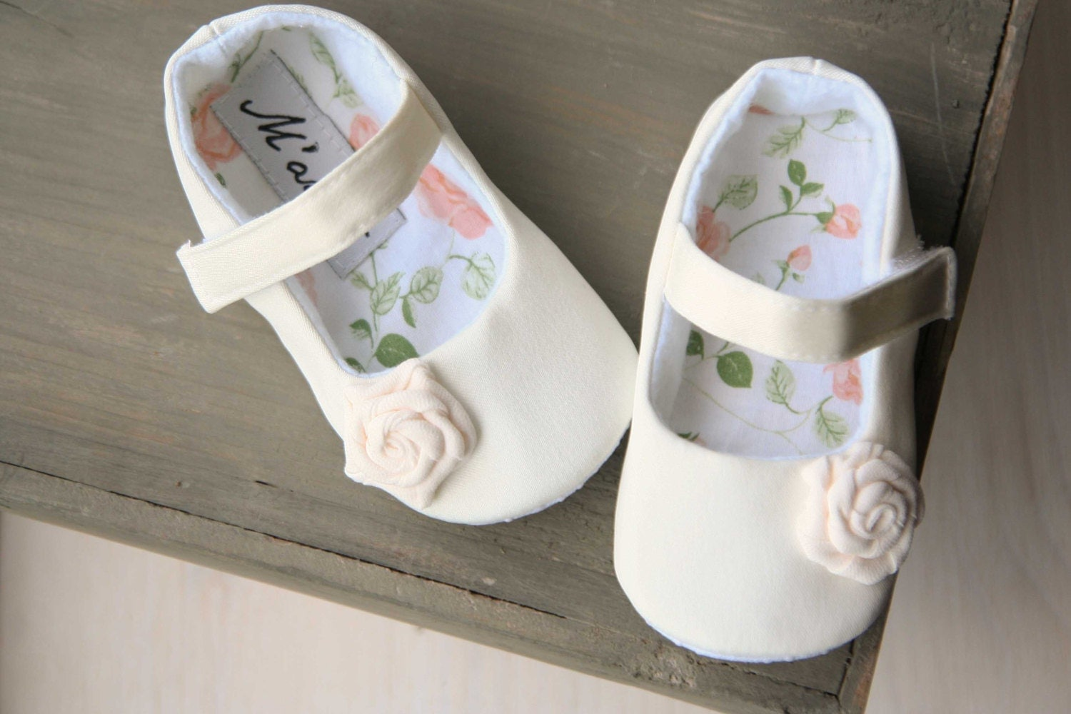 Ivory flower girl shoes Ivory baby shoes white baby shoes