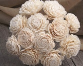 """Sola Flowers Stemmed Set of 12 Natural Ivory Sola Zinnia 2"""""""