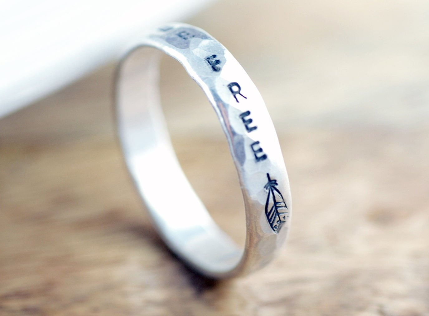 personalized ring sterling silver ring by luckyhorngifts