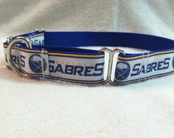 Buffalo Sabres Inspired Martingale Dog Collar