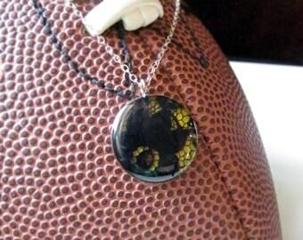 Black and Yellow Gameday Necklace/ Georgia Tech/ Steelers/ Pittsburgh Pirates/ Cheerleader/ School Spirit/ Game Day Pride/ Sorority Jewelry