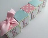 Custom Baby Name Blocks Baby Gift Baby Shower Newborn Photography Nursery