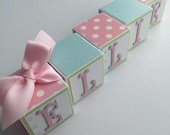 Custom Baby Name Blocks Baby Gift Baby Shower Newborn Photography Nursery