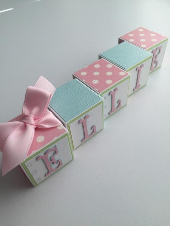 Baby Gift Name Blocks : Custom baby name blocks gift shower newborn