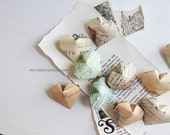 12 origami hearts . table decorations . wedding hearts . heart favors . gift for unisex . {heart like a balloon} -postcards