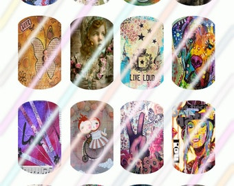 Beauty Within Mini Dog Tag Images 4x6 Digital Collage Sheet Instant Download