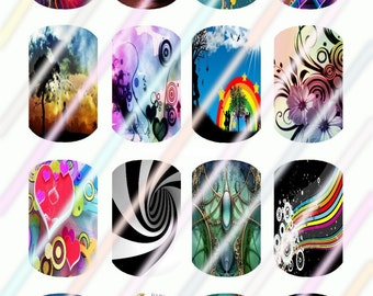 Beauty Within (#2) Mini Dog Tag Images 4x6 Digital Collage Sheet Instant Download