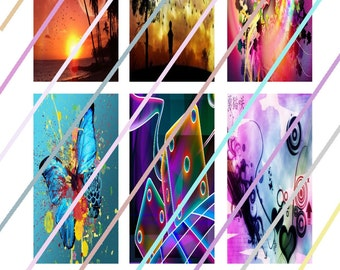 """Beauty Within (#3) 1"""" x 2"""" Domino Images 4x6 Digital Collage Sheet Instant Download"""