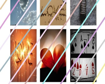 """Forever (#2) 1"""" x 2"""" Domino Images 4x6 Digital Collage Sheet Instant Download"""