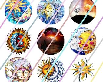 """Shine On Me 1"""" Bottle Cap Image 4x6 Digital Collage Sheet 2 Instant Download"""