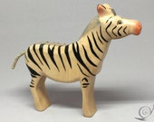 Toy Zebra black white striped colourful Size: 13,5 x 12,7 x 2,6 cm (bxhxs) ca. 85,0 gr.
