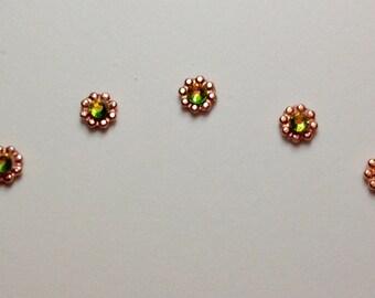 Vitrail & Bright Copper Accent Bindis