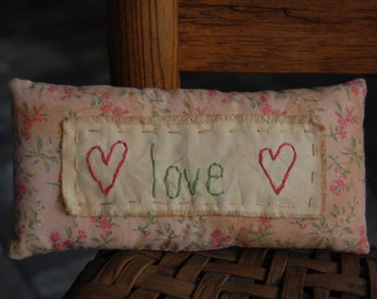 LOVE Stitchery pillow