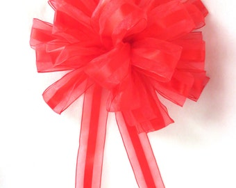 Christmas Bow / Red Bow / Wreath Bow