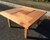 Pinwheel Coffee Table in Maple and Osage Orange.