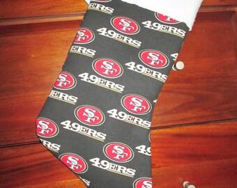 San Francisco 49er's Handmade Christmas Stocking