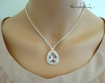 Wedding necklace Bridal jewelry Wedding Jewelry Swarovski Crystal Bridal Necklace Bridal Rhinestone necklace Crystal necklace Bridal jewelry