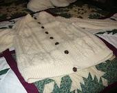 On Reserve for Terry:Irish Wool Cardigan