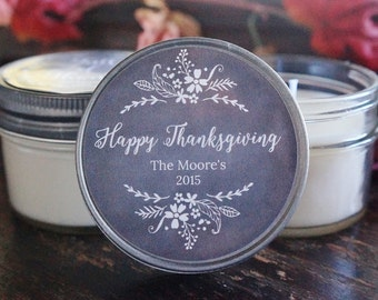 Set of 12 - 4 oz. Thanksgiving Favor Candle//Thanksgiving Table Decor//Holiday Candle//Thanksgiving Decoration//Soy Candle