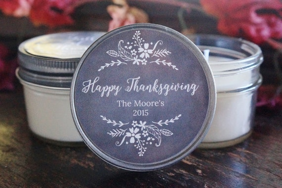 Thanksgiving Favor Candle