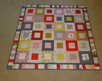 Lap Quilt in Soho Fabrics, Sofa Quilt, Wall Quilt