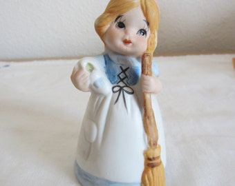 Cinderella Collectible Bell Little Girl Figurine Bisque by Jasco