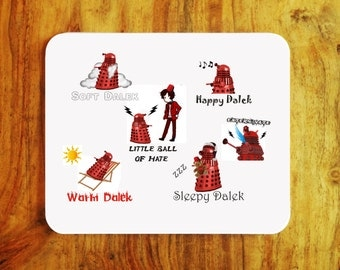 Dr. Who Red Dalek soft kitty style Mousepad