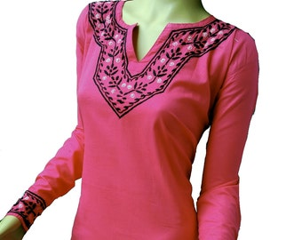 New year eve outfit, Christmas dress, Saree Tunic shirt, Dresses, Cotton handembroidered top, XS S M L XL 2X 3X salwar kameez sale