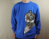 Vintage Hand Painted Tiger Sweatshirt