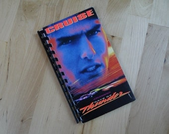 Handmade Days of Thunder 1990 Movie Re-purposed VHS Cover Notebook Journal