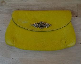 Vintage Davey's Yellow Clutch