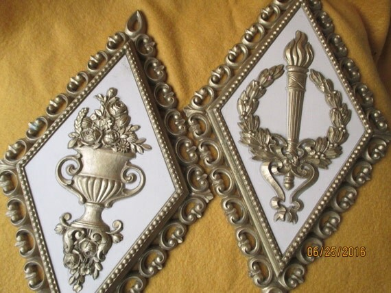 Vintage Homco 1970 39 S Gold Romanesque Wall Plaques
